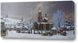 Картина Покровский храм села Ижевский завод. 1900-е гг.