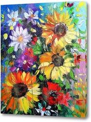 Окно с романтическими цветами