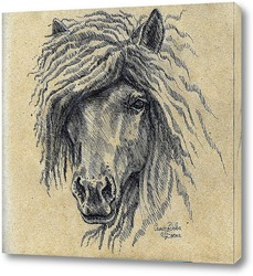 Постер Конь