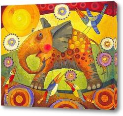 Постер Влюблённый слон