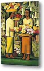 Постер Женщины с цветами