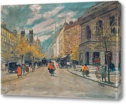 Постер Лондон, уличная сцена