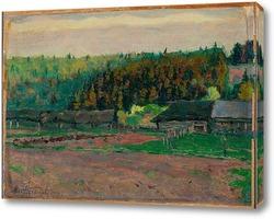 Картина Сельский пейзаж, 1922