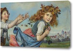 Постер Игра детей в стенах города