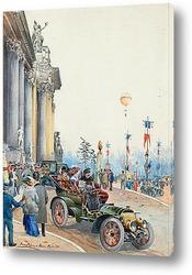 Картина Мерседес за пределами Гран Пале