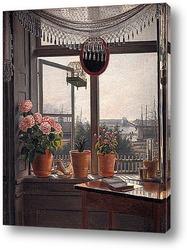 Вид из комнаты художника, ок. 1825