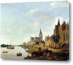 Валы старого замка.Его острие в Амстердаме