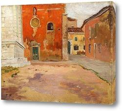 Картина Красная церковь в Венеции