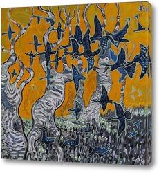Птицы в деревьях 1