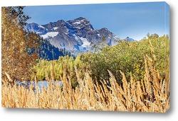 Постер Гора Агепста со стороны озера Кардывач