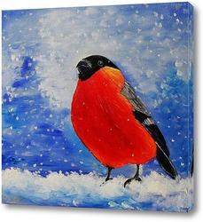 Северный кардинал, сидящий на ветке