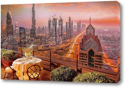 Постер Завораживающий вид Дубаи