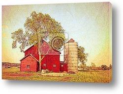 Постер Vintage Farm