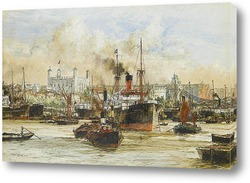 Картина Лондонский Тауэр от Темзы