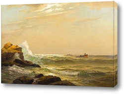 Картина художника 19-20 веков, пейзаж