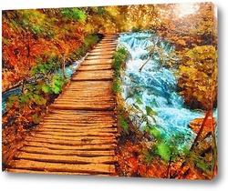 Постер Дорожка вдоль ручья