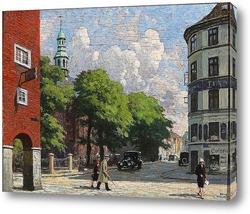 Постер Летний день , церковь в Копенгагене