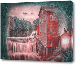Постер Водяная мельница