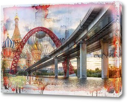 Постер Мост на фоне Кремля