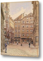 Картина художника XIX-XX веков, пейзаж, город