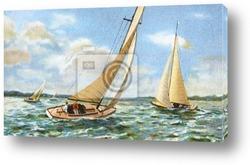 Постер Sailing old illustration