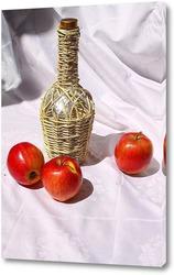 вино и яблоки