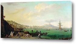 Картина Вид на Неаполь и Везувий