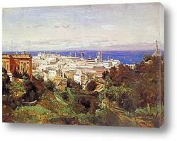 Картина Вид Генуи спрогулочной площадки в Аска Сола.1843