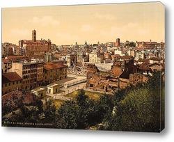 Постер Вид Рим, Италия. 1890-1900 гг