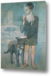 Картина Мальчик с собакой.1905г.