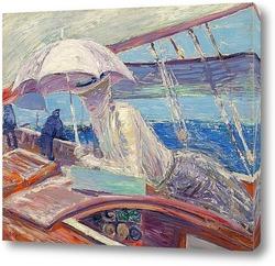 "Картина Мадам Эллё на борту яхты ""Птица"""
