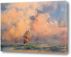 Постер Морская гонка