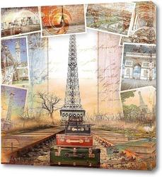 Постер Париж ретро