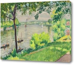 Картина  Буксир в Триеле