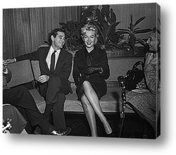 Мерелин Монро с мексиканским писателем Боланосом,1962г.