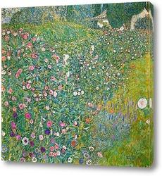 Розовые кусты под деревьями, 1905