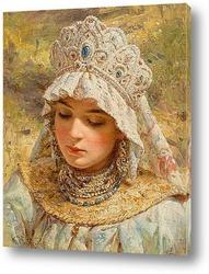 Картина Портрет дамы с кокошнике