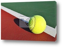 Постер Yellow Tennis Ball on Court