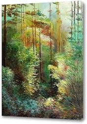 Картина Тени в лесу