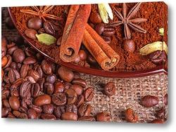 Крупный план кофейных зерен