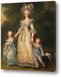Королева Мария-Антуанетта с ее детьми принцесса Мария Тереза Шар