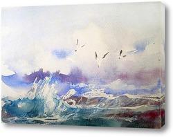 Постер Легкий морской пейзаж