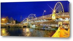 Постер Светящийся мост через реку Сочи