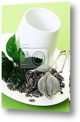 loose green tea composition