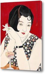 Постер Современный стиль женщины, Япония