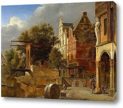 Вид Вестеркерк Амстердам 1660