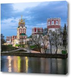 Постер Новодевичий монастырь на закате дня