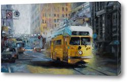 Картина San Francisco Yellow Trolley
