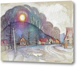 Картина Первый снежок.