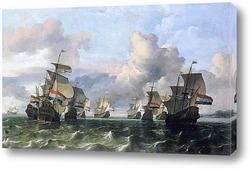 Голландские корабли в шторм близ Амстердама